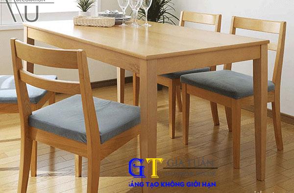 Bàn ghế ăn gỗ sồi mỹ-GT5