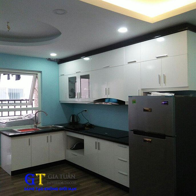 Tủ bếp acrylic gt40