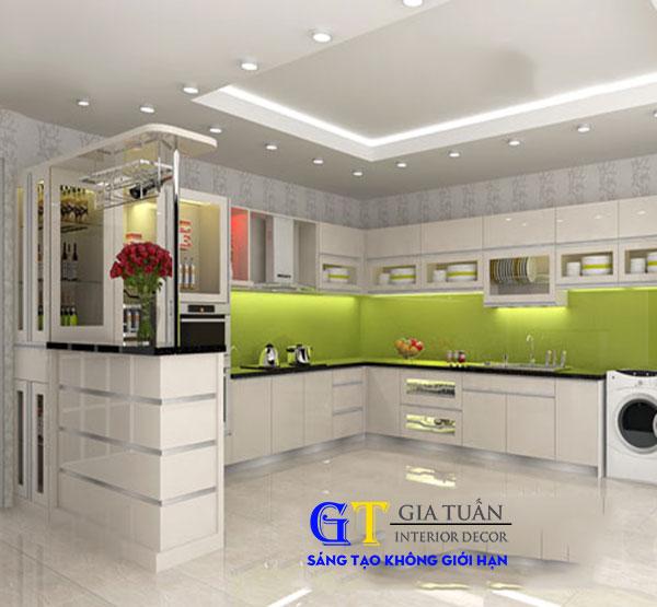 Tủ bếp acrylic GT56