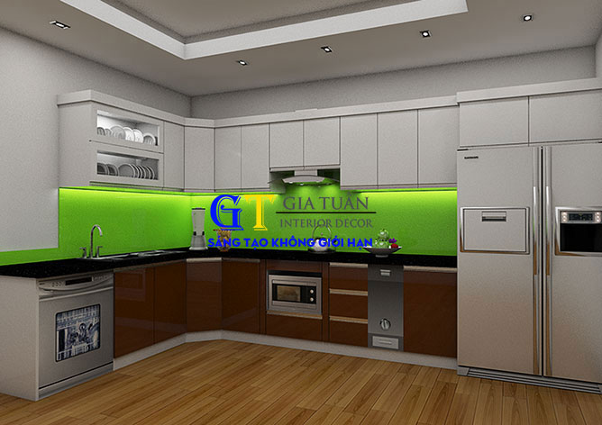 Tủ Bếp Acrylic GT58b