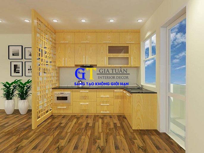 Tủ bếp gỗ sồi nga GT60