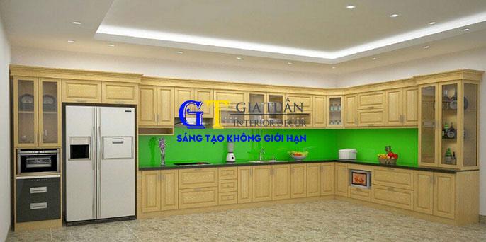 Tủ bếp gỗ sồi nga GT61