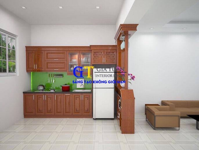 Tủ bếp gỗ xoan đào GT64