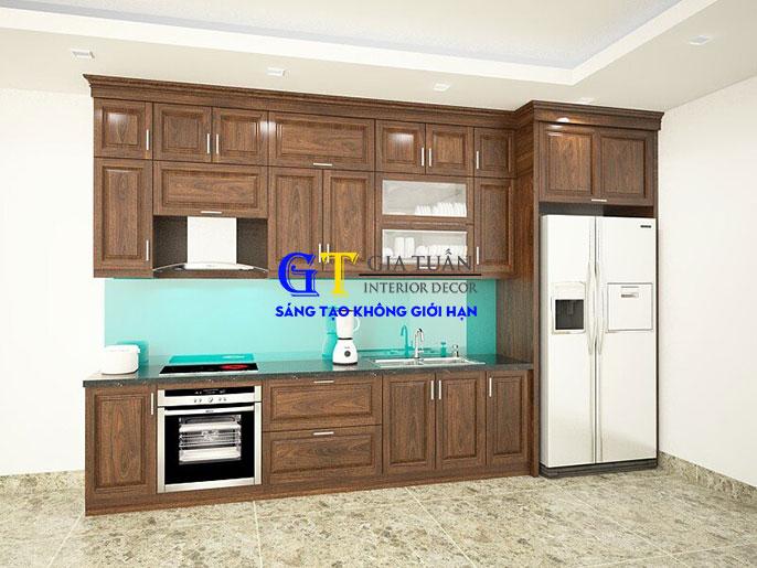 Tủ bếp gỗ óc chó GT65