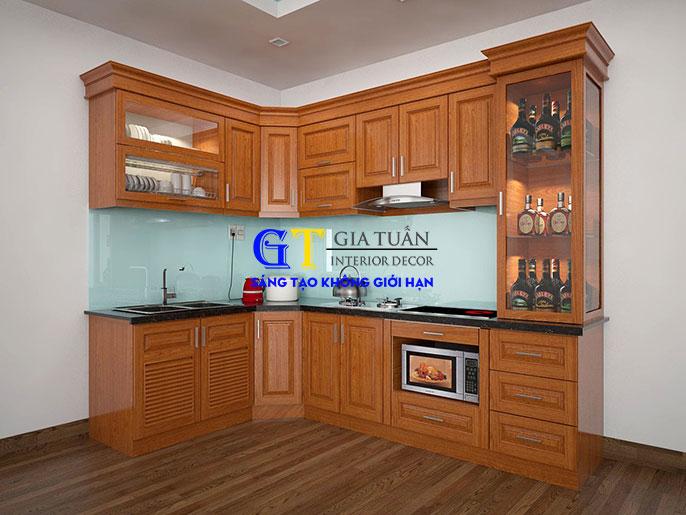Tủ bếp xoan đào GT69A