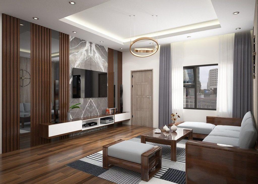 sofa gỗ bọc nỉ hàn quốc, thiết kế thanh lịch đang rất được ưa chuộng 2
