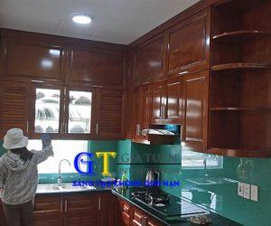 Tủ Bếp Gỗ Xoan đào Hoàng Anh Gia Lai