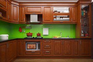 tủ bếp gỗ xoan dào GT171