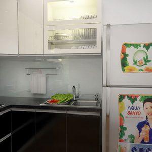 Tủ Bếp Inox Mặt Cánh Acrylic GT180
