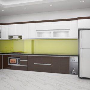 Tủ Bếp Acrylic Bóng GT207