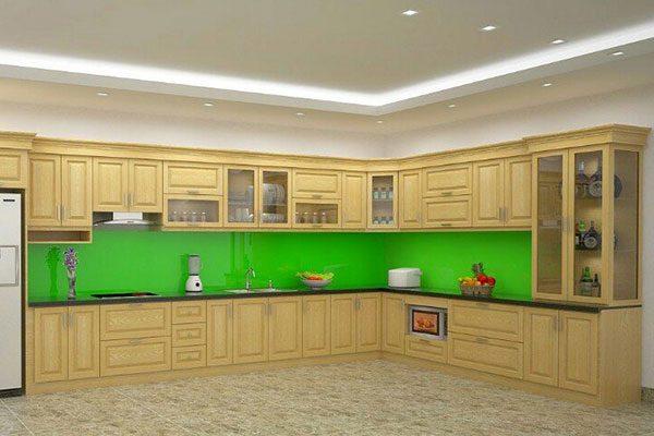 Tủ Bếp Gỗ Sồi Nga-gt128