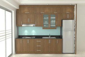 tủ bếp gỗ óc chó-gt137