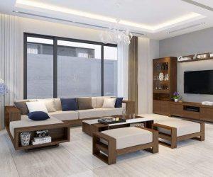 Sofa Gỗ Bọc Nỉ GT68