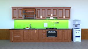 tủ bếp gỗ xoan đào chữ i